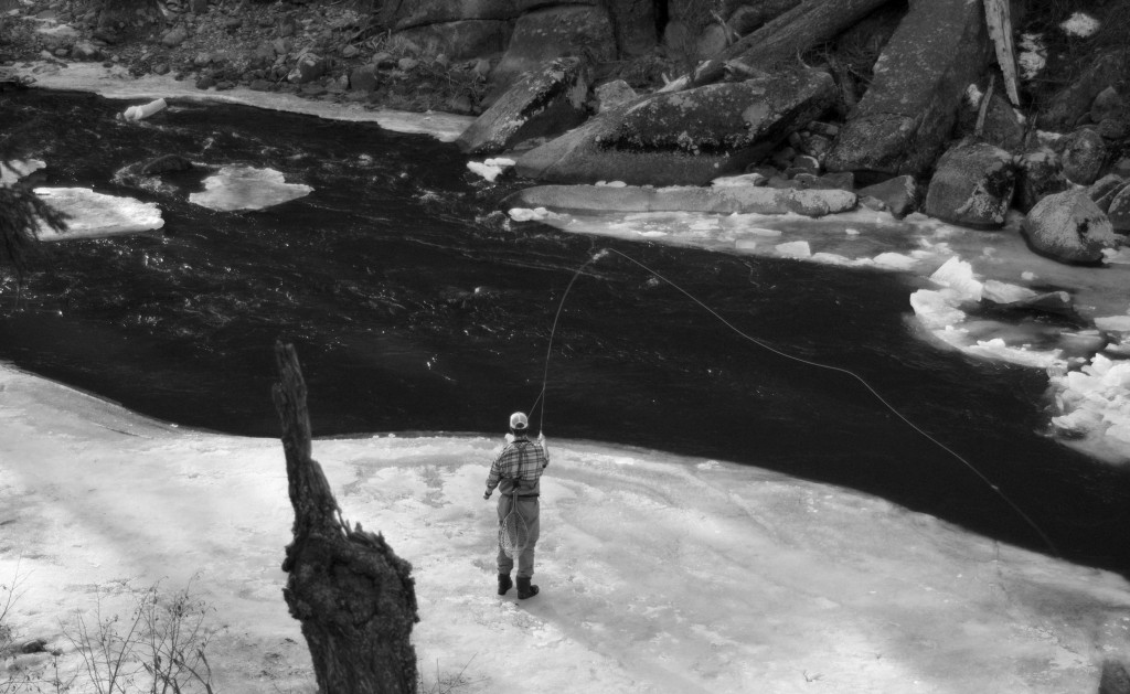 ice fly fishing, orvis fly fishing, fly fishing around ice, winter fly fishing in montana, what fly to use in March