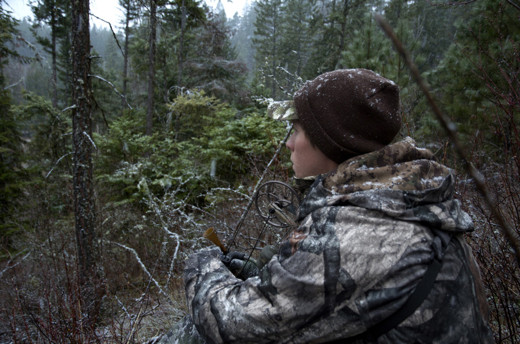 hunting turkeys in snow, calling turkeys, slate calling turkeys