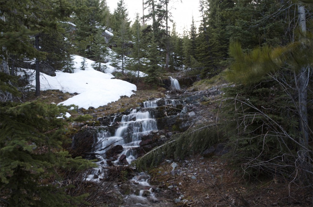 montana waterfall, cold waterfall