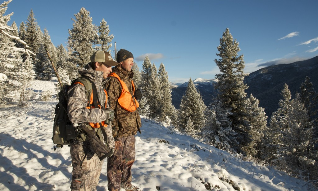 Hunting with your dad, Hunting in snow