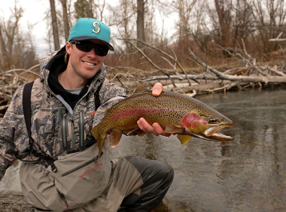 montana, rainbow, trout, fly, fishing, fish, wild, winter, 2013