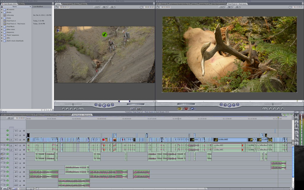 final cut, pro, editing, video, hunting, film, archery, bowhunting, hunting film tour, montana wild, elk, 2013