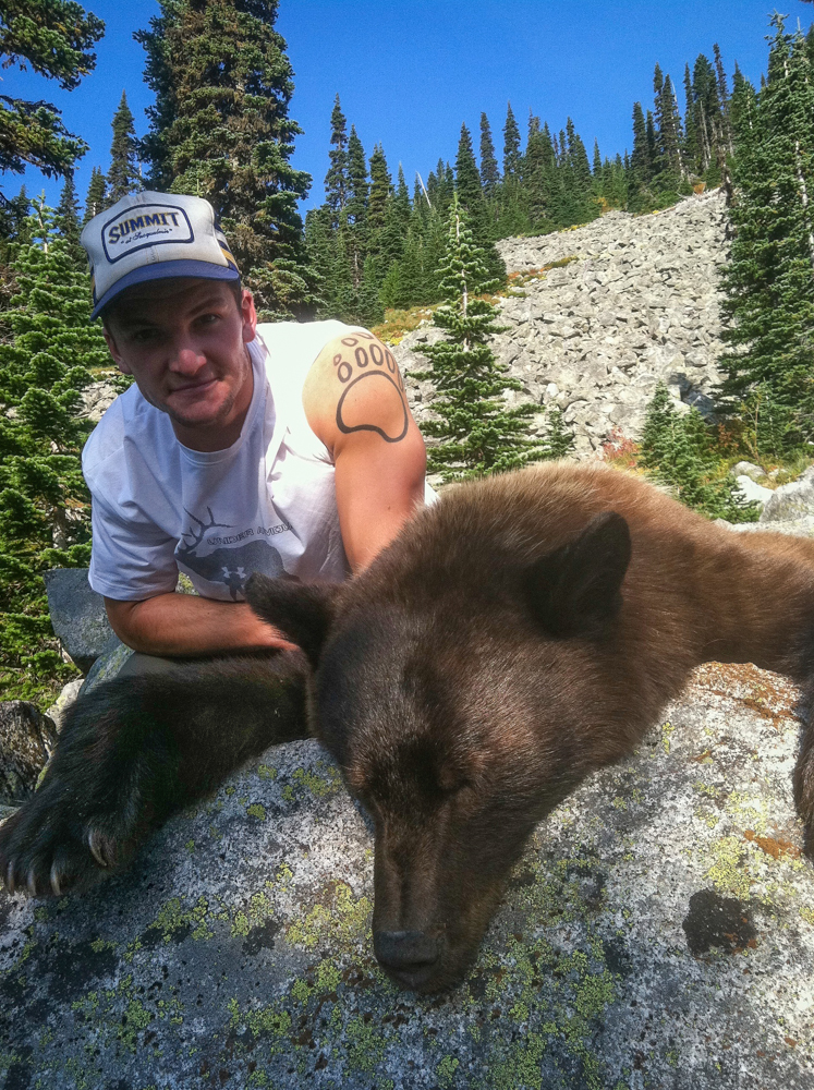 black, bear, hunting, washington, montana wild, brandon, smith, rifle, fall, high country