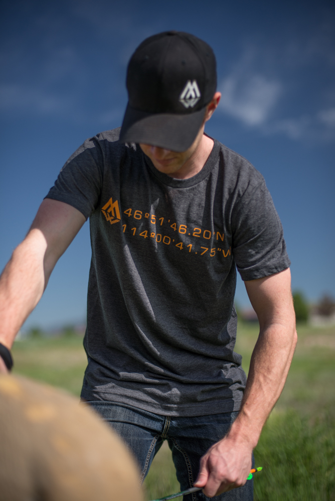 coordinates tee, montana wild, montana elk unit, gps, hunting apparel, hunting t-shirt, unknown apparel company, montana apparel company, missoula, bozeman, butte, helena