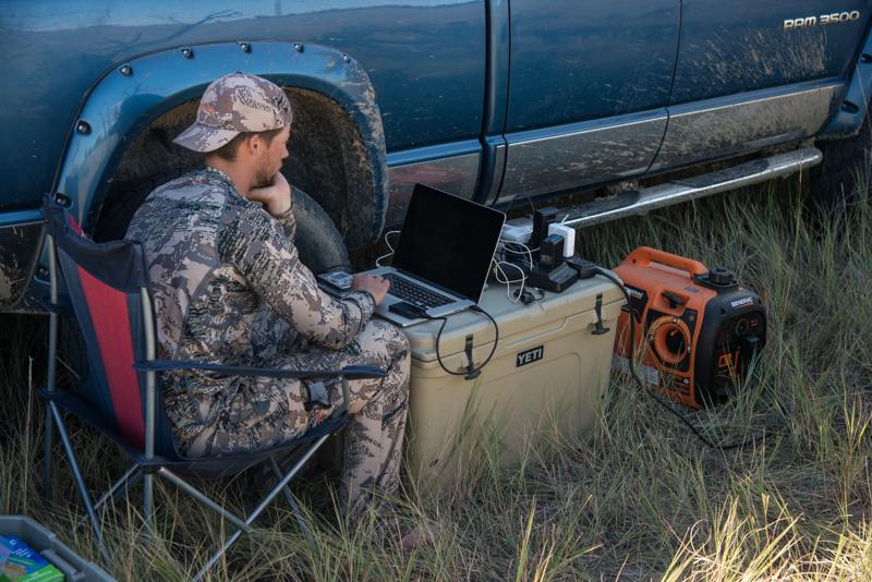 montana, wild, work, on, the, road, portable, power, generator, generac, iq2000, 2000, watt