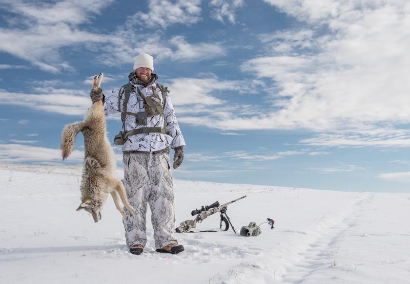 coyote, hunting, film, montana, wild, predator, call, foxpro, shockwave, snowy mountain rifles, hsm ammo, the, hunting, shack, snow, camo, vortex, optics, viper, hslr, fhf, gear, 6xc, caliber, fur, shockwave